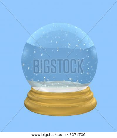 Empty Snowglobe With Clipping Path