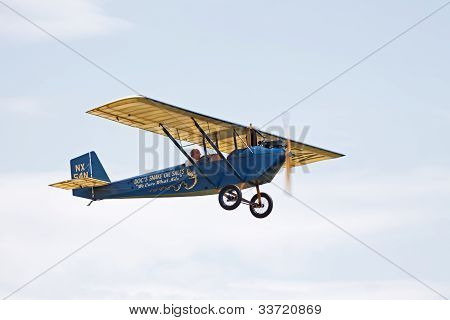 Vintage Airplane In Flight