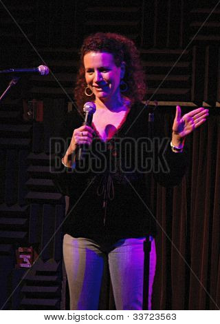 Curb Your Enthusiasm's Suzie Essman at Heeb Storytelling, January 5, 2006 at Joe's Pub in Manhattan