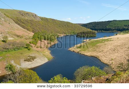 PenyGarreg reservoir in the Elan Valley Wales UK.