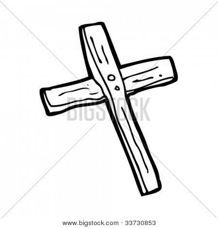 Vector y foto Cruz De Madera De Dibujos Animados  Bigstock