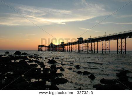 Llandudno Pier At Sunrise