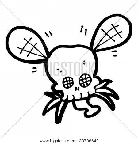 cartoon buzzing fly
