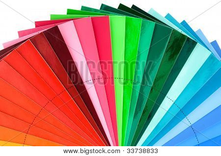 Color Swatch Palette for Printing Industry Isolated with Clipping Path