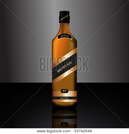 Bottle of alcoholic drink