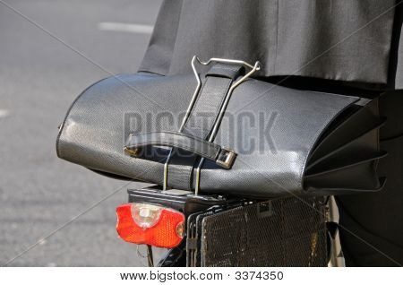 Briefcase On Bicycle