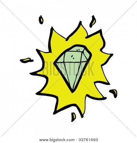 cartoon glowing gem
