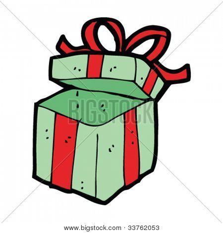 cartoon empty gift box