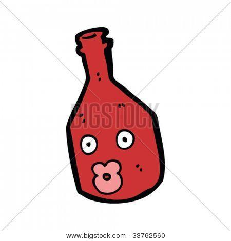 cartoon wine bottle