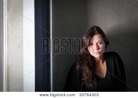Outdoor Portrait Of Young Sad Teenager