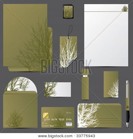 Business Vector Set With Tree Design