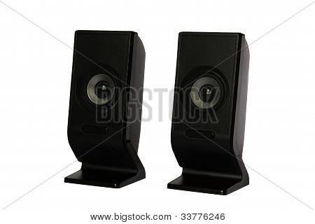 Black speaker isolated on white