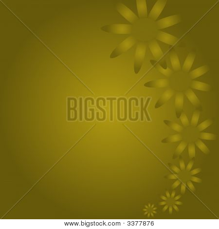 Golden Flowers Background