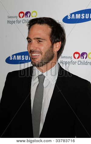 NEW YORK-JUNE 4: Racecar driver Jimmie Johnson attends Samsung's Annual Hope for Children gala at the American Museum of Natural History on June 4, 2012 in New York City.