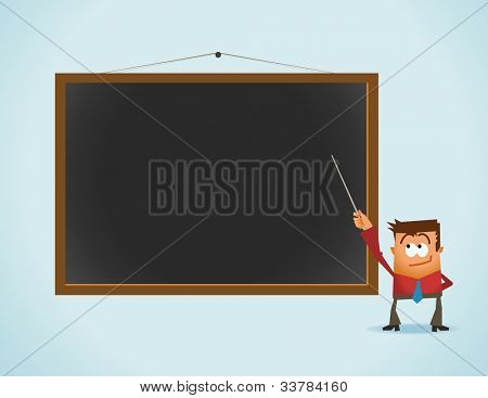 Lecturer on class. Vector illustration
