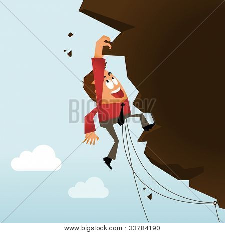 Risk Taking and Hard Work. Vector illustration