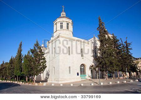 The Russian church in Jerusalem , Israel