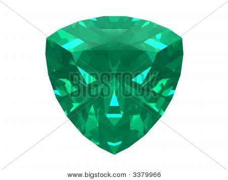 Emerald Trillon Isolated On White