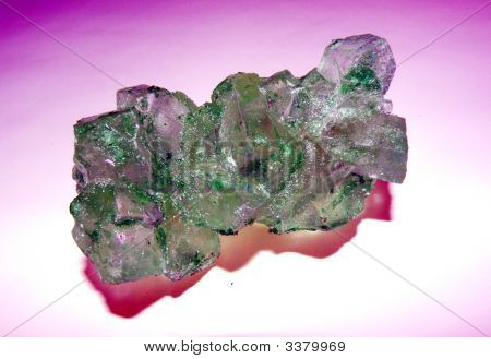 Green Rock Candy Crystals