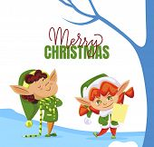 Merry Christmas, Preparing For Holiday. Girl Hold Wish List Of Kids, Santa Claus Helper. Fairy Chara poster