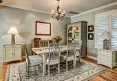 Beautiful traditional dining room in American style home. poster