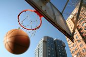 foto of bounce house  - an image of playing basketball at the outside - JPG