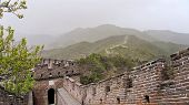 The Great Wall Of China In Summer. The Mutianyu Area. China Famous Landmark. Wonders Of The World poster