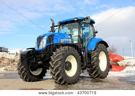 Blue New Holland Agricultural Tractor