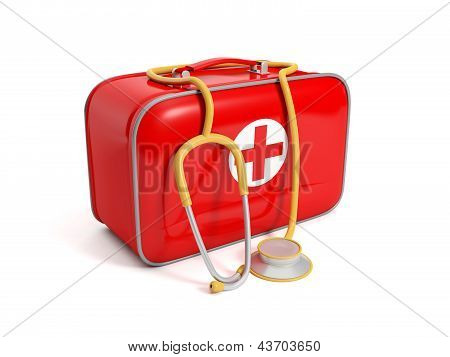 Medical Kit On A White Background