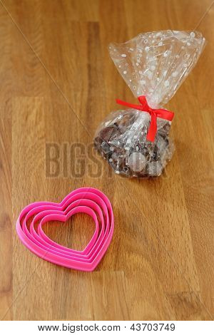 Chocolate pralines for Valentine's Day