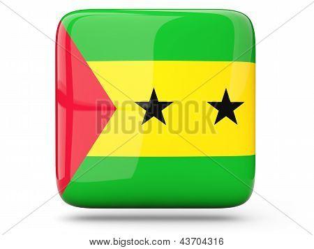 Square Icon Of Sao Tome And Principe