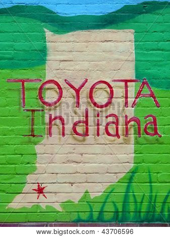 OAKLAND CITY, IN - Mar. 29:  Gibson County Shows Spirit for Toyota