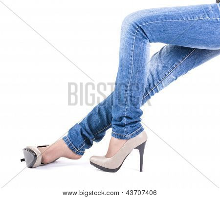 Female Leg In Shoes