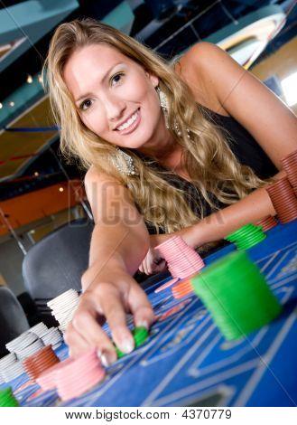 Woman In A Casino