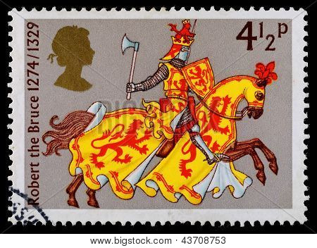 Britain Medievil Warrior Postage Stamp