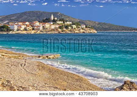 Town of Primosten sea and beach