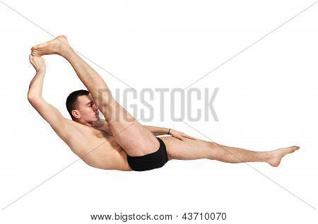 Guru Practicing Yoga