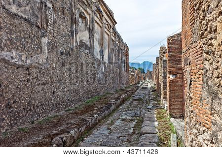 Narrow Lane In Pompei