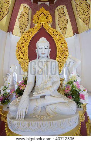 Burmese Kakusanda Marble Buddha Statue