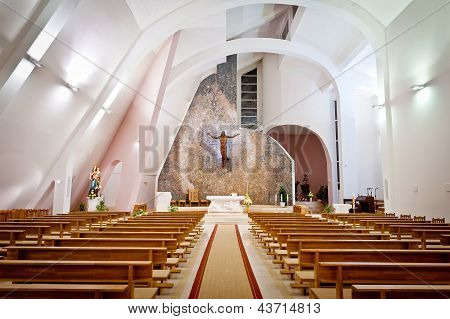Large Interior Of Modern Church