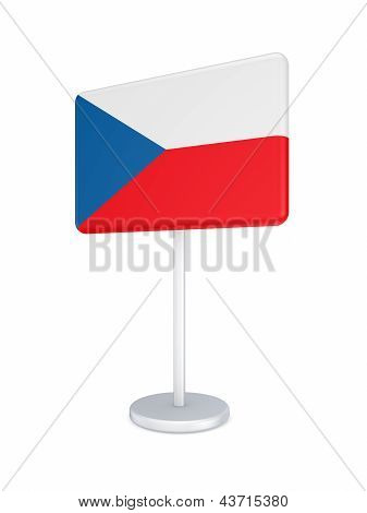 Bunner with flag of Czech Republic.