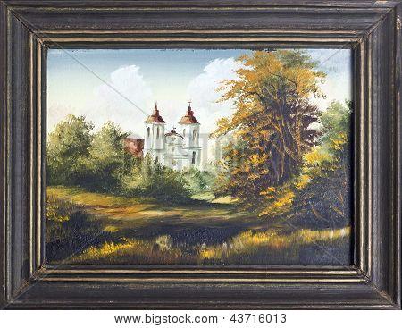 Catholic Church Oil Painting