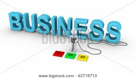 Person Choosing Socket For Business