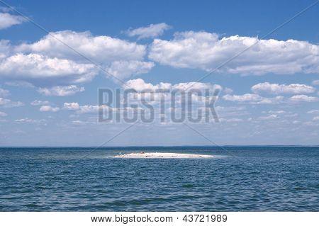 Cobalt Blue Sea And Blue Sky