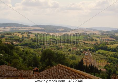Roofs, Dome And Hills Of Tuscany