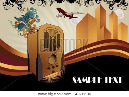 Art Deco Vector Composition