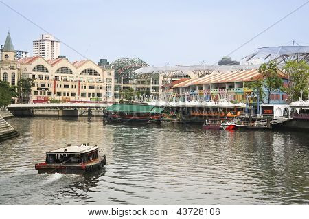 Clarke Quay Riverside Singapore City