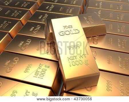 Univer Of Rows Of Gold Bars