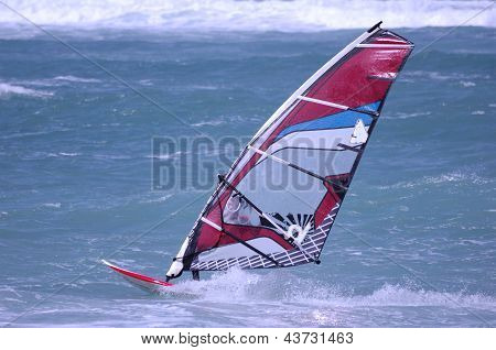 Windsurfing On A Beach