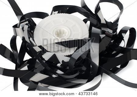 Montón de carretes de cintas de vídeo